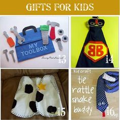 28 Handmade gifts for kids! Such great and fun ideas. I want to make the photo memory cards - with such a large family, it's a fun way to remember everyone's name. gift for boys 28 Handmade Christmas Gift Ideas for Kids Christmas Gifts For Boys, Handmade Christmas Gifts, Homemade Christmas, Gifts For Kids, Christmas Shopping, Sewing For Kids, Diy For Kids, Craft Gifts, Diy Gifts