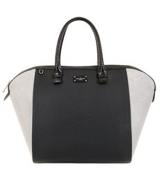 Paul's Boutique Betsy structured tote bag in Black/Grey. Online now || www.paulsboutique... x