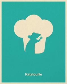 Minimalist Pixar Posters from Posterinspired - Ratatouille