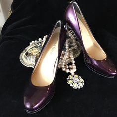 Ivanka Trump New Deep Plum Patent Leather Pumps