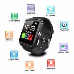 Vraag nog in December 2015 uw voedingsplan aan en maak kans op deze mooie smart watch. 2015 HOT Bluetooth smart watch U8 Wrist Watch U smartWatch for Samsung S4/Note2/3 HTC LG Xiaomi Android Apple Phone Smartphones