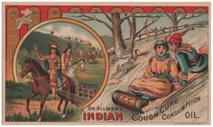 Trade Card Collection 049 - Dr. Kilmer's Indian Cough Cure - Front.
