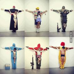 """""""The untouchables"""", are photographs of children crucified for his supposed oppressors"""