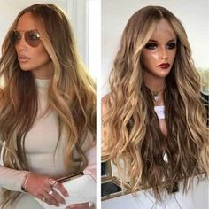 RESTOCKED JLo Inspired Blonde Full Lace Wig with bleached knots and transparent lace Blonde Ends, Blonde Roots, Light Blonde, Short Hair Wigs, Long Wigs, Human Hair Wigs, Medium Blonde, Brown To Blonde, Blonde Ombre