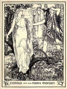 John Dickson Batten, the pages this time being from Celtic Fairy Tales (1892), and More Celtic Fairy Tales (1895). Once again, both books were written by Batten's regular collaborator Joseph Jacobs. As is often the case where less familiar stories are concerned, they yield some striking imagery.