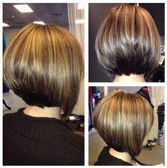 Klassische Stacked Medium Bob Haircut: Frauen Frisuren-Ideen