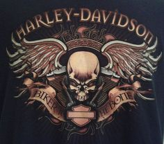 Harley Davidson Motorcycles TShirt Sz M Medium Biker To The Bone Virginia Beach  #HarleyDavidson #GraphicTee #Everyday