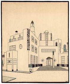 Robert Mallet-Stevens, Projet de maison de campagne pour Jacques Doucet, vers 1924