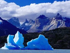 Icebergs at Patagonia, Chile. I would love to visit these one day!