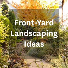 Use these creative ideas to transform your front yard: http://www.bhg.com/gardening/landscaping-projects/landscape-basics/front-yard-landscaping-ideas/