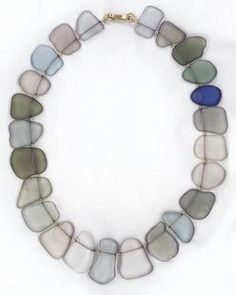 Michaela Kirchner - necklace - steel, glass, gold 900 (via Galerie Slavik, No. 106102)
