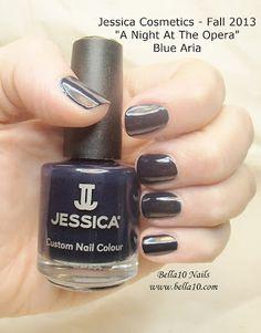 "Bella10 Nails - http://bella10.blogspot.com/ Jessica Cosmetics - Fall 2013 ""A Night at the Opera"" Collection - Blue Aria"