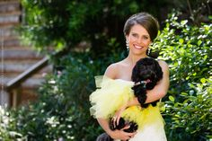 Bride with dog! Love it!
