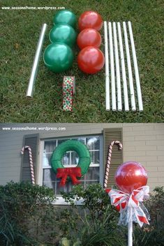 How to Make Awesome Christmas Outdoor Decorations – Giant Lollipops Simple Christmas, Winter Christmas, Christmas Holidays, Prim Christmas, Antique Christmas, Country Christmas, Christmas Christmas, Christmas Lights, Christmas Ideas