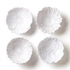 Vietri - Bellezza Bloom Assorted White Flower Small Bowls