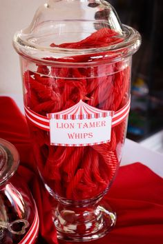 Lion tamer whips for the circus candy buffet!