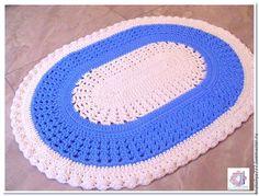 Текстиль, ковры ручной работы. Ярмарка Мастеров - ручная работа. Купить Овальный коврик ручной работы Голубая нежность. Handmade.