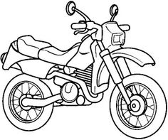 dirt bike motorcycle coloring page