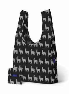 """Alpaca Bag - Medium Reusable   Click to enlarge               Alpaca Bag - Medium Reusable    Show your love for Alpacas everywhere you go!     Our best selling reusable bag is not just for the grocery store. Carry in your hand or over your shoulder. Holds 2-3 plastic grocery bags worth of stuff. 15.5"""" wide / 25.5"""" high / 6"""" deep. Folds into a flat 5"""" by 5"""" pouch. Holds 50 lbs. 100% Ripstop nylon. Machine washable.   www.purelyalpaca.com"""