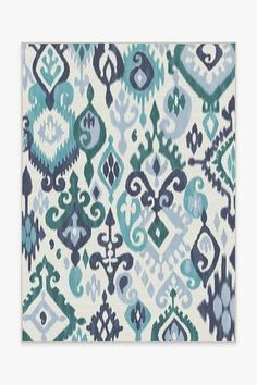 Patterned after the Indonesian dyeing technique, the Eisley Teal Rug is beautifully hand-drawn in a cheerful blend of teal and navy blue hues. This updated take on a classic motif imparts a bohemian-chic style to any teen or tween space. Teal Rug, Yellow Rug, Pink Rug, Machine Washable Rugs, Bohemian Chic Fashion, 8x10 Area Rugs, Black Rug, Natural Rug, Rug Runner