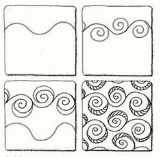 Image result for Steps to Drawing Zentangle Designs