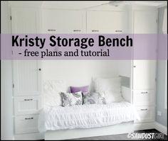 Kristy Storage Bench - free plans
