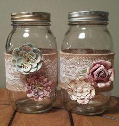 Hand Decorated Mason Jars, Endless Possibilities