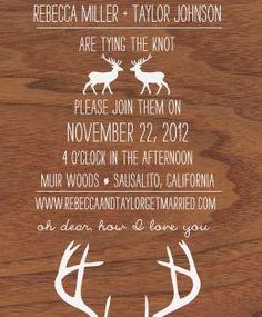 Red Ribbon Fox Design invitation