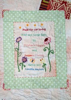 I found this poem in a quilt magazine and loved it. I digitized it ... : quilting signature tags - Adamdwight.com