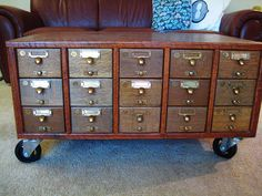 card catalog coffee table - by stegersaurus31 on Flickr