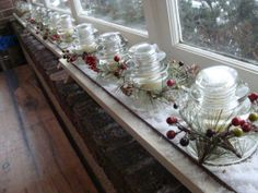 1000 images about insulator ideas on pinterest glass - Christmas window sill lights ...