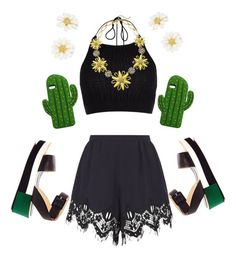 """""""Symmetrical Spring"""" by darkrosestyle ❤ liked on Polyvore featuring River Island, Chloé, Palomitas by Paloma Barceló, MANGO and Kate Spade"""