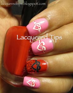 LACQUERED TIPS: Valentine's Day Nails 1