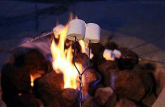 Roasting marshmallows ♡