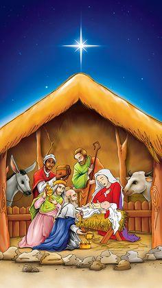 Pesebres de navidad - Imagui Christmas Tree Star, Christmas Scenes, Christmas Settings, Christmas Nativity, A Christmas Story, Christmas Colors, Christian Paintings, Jesus Stories, Jesus Art