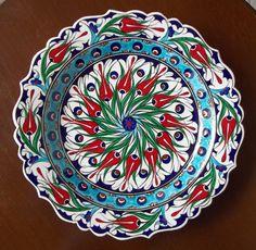 ceramic plate kütahya ༺JS༻