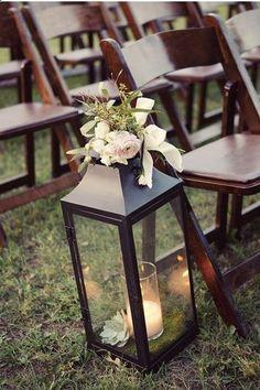 wedding ceremony decoration lantern,Country Chic wedding ideas