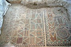 Archaeological excavations in the Black Sea province of Amasya have revealed 2,000-year-old mosaics with kilim-like motifs that are believed to date back from the Roman period.   http://archaeologynewsnetwork.blogspot.com/2013/07/more-mosaics-discovered-in-amasya.html#.UeX6QY1wqSo