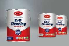 Kova Self-Cleaning Paint Packaging Design