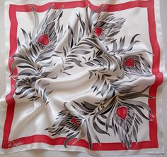 hand-painted  silk scarf ,Feathers scarf, Made to order. gift for women , wedding gift, gift for her, women's day   Take a look at our wonderful batik scarves; once you do,...