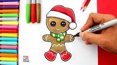 Aprende a dibujar una GALLETA DE JENGIBRE de Navidad