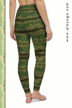 Green Snake Leggings, Snake Skin Print Pattern, Workout Tights, Yoga Pants, Animal Leggings, Tropical Reptile Tights Exotic Trousers for Gym Hot Pants, Harem Pants, Trousers, Skins Leggings, Pants Pattern, Active Wear For Women, Festival Outfits, Printed Leggings, Street Style Women