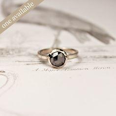 Image of 18ct white gold, black diamond ring {No.5}