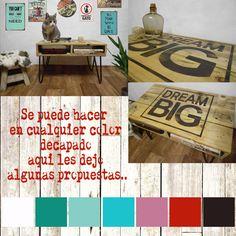 Mesa Ratona De Madera Tipo Pallet, Con Patas De Hierro!! - $ 1.490,00 en MercadoLibre