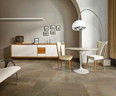 Material Stones is an evocative new porcelain tile series that allows for striking design with a crisp, clean aesthetic. Now in stock! Ceramic Tiles, Tiles, Home Decor Decals, Furniture, Interior, Natural Stone Tile, Home Decor, Fireplace Surrounds, Living Spaces