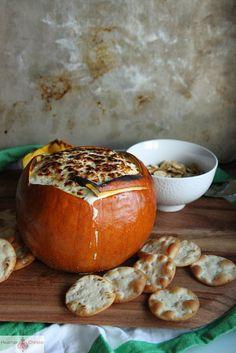 Cheesy Artichoke Pumpkin Dip by Heather Christo, via Flickr