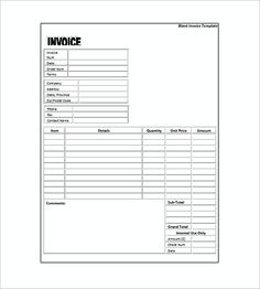 Simple Free Editable Invoice Templates Word  Simple Invoice