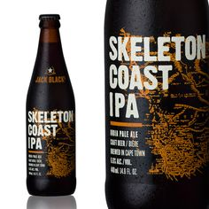 Skeleton Coast is a fearless beer with full malt flavour and extreme hop character. The latest in a series of great beers from Jack Black, this is dry hopped and has powerful citrus, floral and earthy notes. Jack Black Skeleton Coast IPA - League of Beers Jack Black, Ipa, Craft Beer, Earthy, Beer Bottle, Skeleton, Coast, Notes, Floral