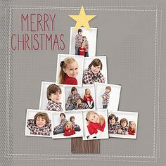 Super cute! Could try with individual shots from family Xmas party. Oh or maybe ornament shots???