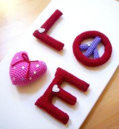 Amigurumi LOVE Crocheted Amigurumi 4 letters by TGLDdoll on Etsy Crochet Letters Pattern, Letter Patterns, Crochet Patterns Amigurumi, Crochet Dolls, Love Crochet, Knit Crochet, Crochet Things, Weekend Projects, Crochet Basics